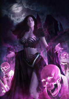 ArtStation - Rise of the undead - The Lord Of Skeleton, Rocky Leaw Fantasy Girl, Fantasy Art Women, Beautiful Fantasy Art, Fantasy Warrior, Anime Fantasy, Dark Fantasy Art, Fantasy Artwork, Fantasy Character Design, Character Art