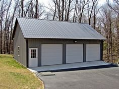 This step by step diy woodworking project is about free 16 × 24 pole barn plans.This step by step diy woodworking project is about free 16 × 24 pole barn plans. Metal Shop Building, Building A Pole Barn, Building A Garage, Building Ideas, Building Plans, Metal Garage Buildings, Pole Buildings, Shop Buildings, Wooden Garages