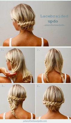 peinados cabello corto recogido paso a paso - Buscar con Google