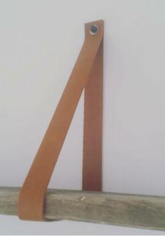 Leren plankdrager Cognac