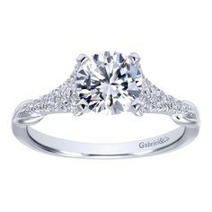 14K White Gold 0.17 Gabriel & Co Diamond Ring Setting ER11719R4W44JJ-IGCD