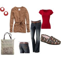 Outfit --- with red heels