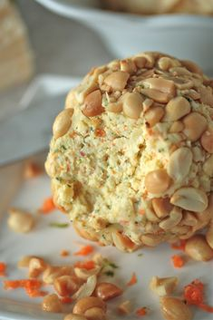 YIAH Thai Satay or YIAH Thai Green Curry dip mix would be awesome in this Cheese Ball