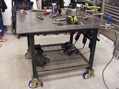 welding table.