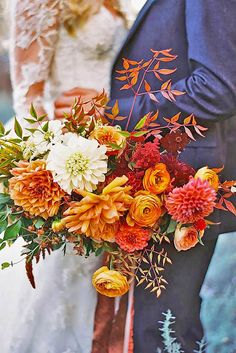 18 Fall Wedding Bouquets For Autumn Brides ❤ See more: http://www.weddingforward.com/fall-wedding-bouquets/ #weddings #bouquets