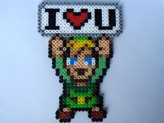 Link from the Legend of Zelda with an I <3 U sign! Only $7 and use code PINTEREST10 for 10% off your order!