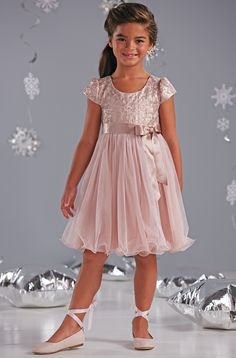 f3969cc16bd1 From CWDkids: Foil Bodice & Tulle Dress Father Daughter Dance Dresses, Girls  Dance Dresses