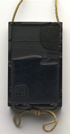 artemisdreaming:  Inro  Japan, 19th century  Shibata Zeshin (maker)  Black lacquer  Credit Line: Pfungst Gift  Museum number: W.293-1922  vam.ac.uk