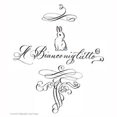 Logo Design Calligraphy Hand lettered & by LavenderCalligraphy