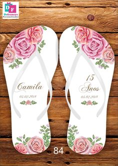 bacd5d5c32c5c9 Chinelo 15 anos Personalizado - R  7