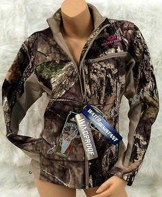NEW! Women's Mossy Oak Camo Pink Softshell Insulated Windproof Jacket S M L XL