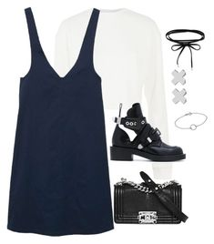 """""""Untitled #4625"""" by magsmccray on Polyvore featuring Topshop, MANGO, Balenciaga, Chanel and Witchery"""