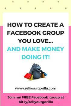 Have you been thinking of starting a Facebook group....but you're not sure it's right for you?   OR  Do you already have a group and it's not quite what you thought it would be?    Either way....www.sellyourgorilla.com can help!  Join my FREE Facebook group at bit.ly/sellyourgorilla What You Think, Things To Think About, Free Facebook, How To Make Money, Join, Thoughts, Group