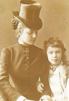 (Possibly) Archduchess Maria Valerie with Baroness Wallersee