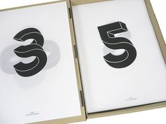Connected Typeface. 3 + 5. By Stephan Lerou, via Behance