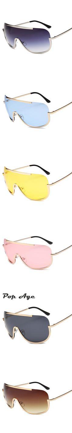 Pop Age New Polarized Oversized Sunglasses Women Men Brand Designer Ocean Pink Blue Goggle Sun glasses Driving Windproof Lentes