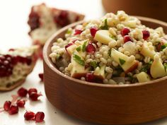 Pearled Barley Salad with Apples, Pomegranate Seeds and Pine Nuts Recipe | Kitchen Daily