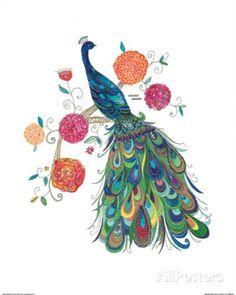 Splendid Peacock Kunstdruk