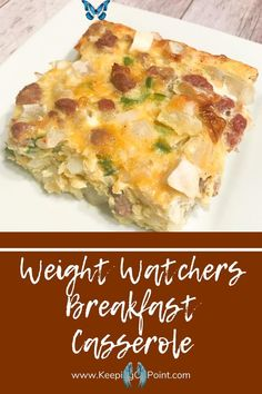 Breakfast Casserole – Weight Watchers Freestyle Weight Watchers Breakfast Casserole - this is an easy, low point breakfast!<br> Weight Watchers Casserole, Weight Watchers Snacks, Petit Déjeuner Weight Watcher, Poulet Weight Watchers, Plats Weight Watchers, Weight Watchers Meal Plans, Weight Watchers Breakfast, Weight Watchers Chicken, Low Fat Breakfast