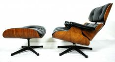 10 modèles de chaise lounge , les plus confotables du monde - the-eames-chaise-lounge-cuir-noir-bois