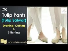 Tulip Pants Cutting and Stitching Kurti Neck Designs, Dress Neck Designs, Tulip Pants, Salwar Pattern, Pants Tutorial, Sewing Blouses, Stitching Dresses, Sewing Pants, Sleeves Designs For Dresses