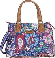Oilily Handbag Winter 2012 Winter Leaf Design Indigo Blue BNWT RRP £75 b2bac9eebeb