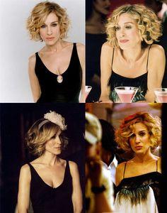 Peinados pelo corto y rizado. Inspiración en Carrie Bradshaw. http://www.cocktaildemariposas.com/pelo-rizado-corto-peinados/