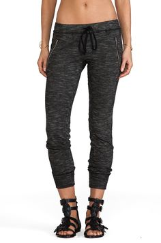 Perfect airplane attire. Michael Lauren Joey Skinny Sweatpants in Black from REVOLVEclothing