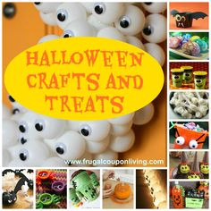 30+ FREE Halloween Crafts and Treats ~ >FREE Halloween Thank You Tags >FREE Halloween Snack Labels >FREE 8×10 Boo Bag Printables >FREE Creepy Drink Labels >FREE Treat Label >Ghost Milk Jugs >25 FREE Halloween Fonts >Elmer's Glitter Spider Web & MORE! Project Links @: http://www.frugalcouponliving.com/2013/08/22/halloween-craft-treat-ideas/