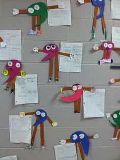 Comma people!  Students give 4 examples of using commas and create a comma person!