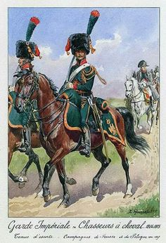 Chasseur a Cheval, Imperial Guard, 1804-1815.