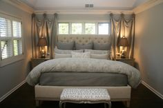 bedroom in the new house is small. this looks like a good idea for a small room