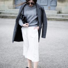 White Culottes & Slipper by Hirschkind