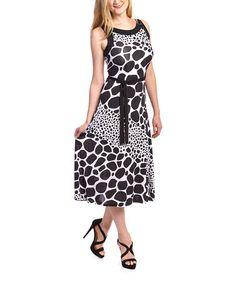 Look at this #zulilyfind! Black & White Dot Sleeveless Dress - Women #zulilyfinds