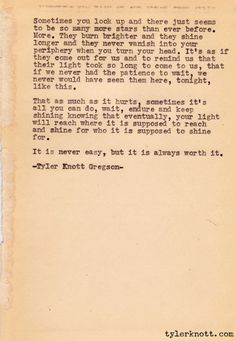 Typewriter Series: Tyler Knott Gregson