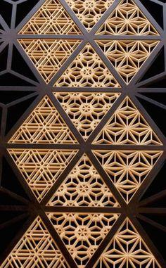 The Kimono Gallery — Japanese traditional wooden lattice work, Kumiko...