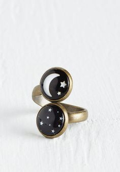 Spaced Haute Ring. Prepare to enter a stylish stupor the moment you don this celestial ring! #black #modcloth