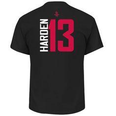 Majestic Men's Houston Rockets James Harden 13 Vertical Name and Number T-shirt