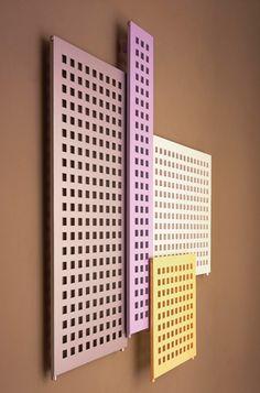 Bisque B² Towel radiator - pastel colours which are on trend Towel Radiator, Radiator Cover, Decorative Radiators, Designer Radiator, Perforated Metal, Bathroom Trends, Aluminum Radiator, Towel Rail, Simple Bathroom