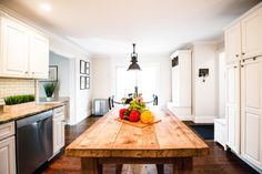 Modern Rustic Kitchen - Luxury Hudson Valley Home with a Pool for Sale - Rock Tavern, NY - Almax Realty Shiplap Paneling, Energy Star Appliances, Glass French Doors, Led Light Fixtures, Functional Kitchen, Open Concept Kitchen, Rustic Bathrooms, Kitchen Cabinetry, Hudson Valley
