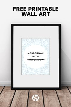 Build your own gallery wall with over 40 pieces of free printable art from HP. Perfect for an entryway, living room, kitchen or bedroom, these free printables include quotes, bold graphics, alphabet letters, modern art and more. Just print on your HP printer & frame! Tap this Pin to get started. Artwork: GOOD VIBES ONLY by In Good Company for HP.