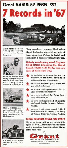 1967 grant rambler rebel sst 034 chevy eater 034 nice original 1967 grant rambler rebel sst 034 chevy eater 034 nice original muscle car ad rebel ads pinterest sciox Image collections