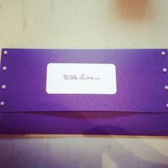 Custom envelope for wedding card