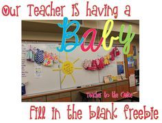 Cool way to celebrate a teacher's baby.