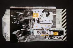 Using a magazine image as a backdrop image. **Mon scrap par Liliema**: ~~ Art journal ~~