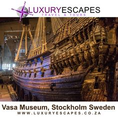 Today's #Amazing Place is the Vasa Museum, Stockholm Sweden This maritime museum is situated in Stockholm Sweden on the island of Djurgården. The most famous of its attractions is the only almost fully intact 17th century ship that has ever been salvaged, the 64-gun warship Vasa that sank on her maiden voyage in 1628. Bon Voyage www.luxuryescapes.co.za