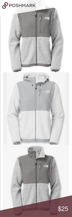 North face jacket gray Very pretty North Face Jackets & Coats Puffers