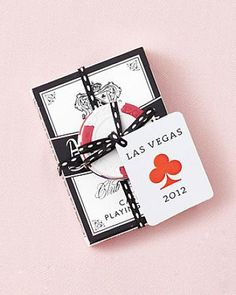 How-To - martha stewart weddings favors las vegas party, vegas theme, casin Vegas Wedding Favors, Las Vegas Weddings, Destination Wedding, Wedding Ideas, Wedding Stuff, Casino Theme Parties, Casino Party, Party Themes, Casino Night