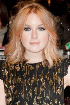 adore her peach hair - the cut is so cute too!