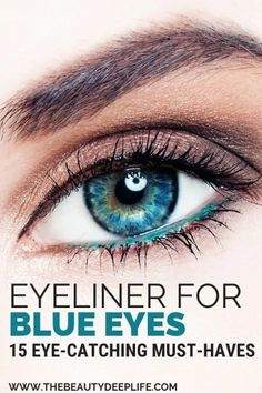 Not sure what color eyeliner for your blue eyes will make them pop or enhance their beauty? We've rounded up the best colored and natural toned eyeliners for all you blue-eyed gals to take your eye makeup game up a few gorgeous notches and to give you a stunning new makeup look!! #eyeliner #eyemakeup #makeupblueeyes #makeuplooks Top Eyeliner, Blue Eyeliner, No Eyeliner Makeup, Color Eyeliner, Makeup Eyes, Fair Skin Makeup, Eyeshadow For Blue Eyes, Best Eyeshadow, Applying Eyeshadow